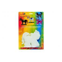 Lowlands Podložka na zažehlovací korálky - kočka,kůň,pes 3ks na kartě