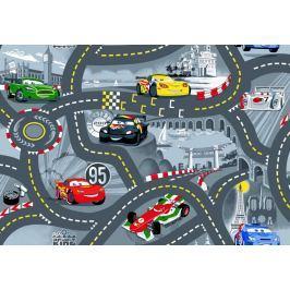Dětský koberec The World od Cars 97 šedý, 200 x 200 cm kruh