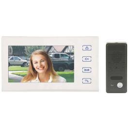 """EMOS videotelefon RL-10B, barevný 7"""" LCD + dveřní kamera s 1 tlačítkem, bílý"""