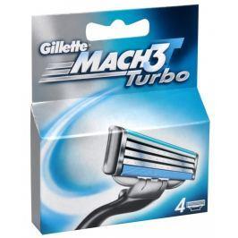 Gillette Náhradní hlavice  Mach3 Turbo 4 ks
