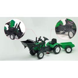 Traktor zelený Falk Lander Z160X s valníkem a přední lžící