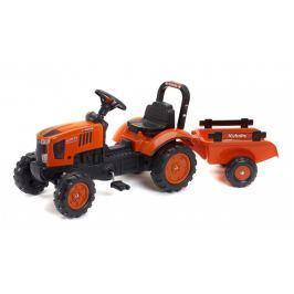 Traktor Kubota M7171 s valníkem oranžový