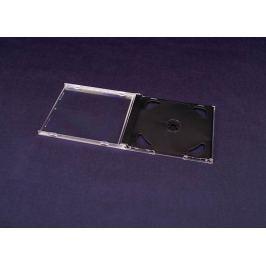 Ostatní Plastová krabička na 2x  CD/DVD, jewel case 7 mm , 1ks, černý tray