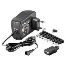 Techly Univerzální napájecí adaptér 3-12V 1.5A 18W, 7 vyměnitelných koncovek