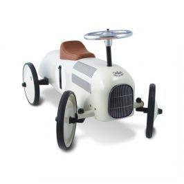 Vilac - Kovové odrážedlo - Historické závodní auto - bílé