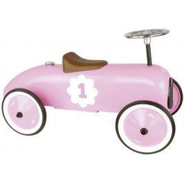Vilac - Kovové jezdítko - Historické závodní auto - růžové