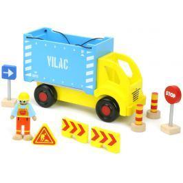 Vilac - Dřevěné auto s kontejnerem