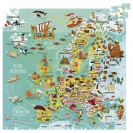 Vilac - Puzzle mapa Evropy 300 dílků