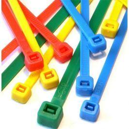 Techly Nylonové vázací pásky 200ks. mnohobarevné