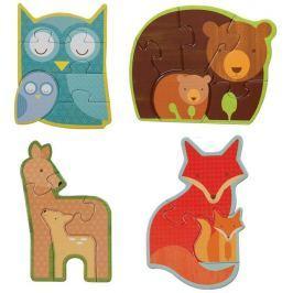 Petitcollage První puzzle lesní zvířátka