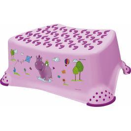 Keeeper Stolička, schůdek s protiskluzovou funkcí  - Hippo - fialová