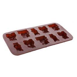 BANQUET Formičky na čokoládu silikonové CULINARIA Brown 20,4 x 10,5 cm, zvířátka