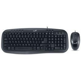 GENIUS KM-210/ Drátový set/ multimediální KB/ USB/ černá/ CZ+SK layout