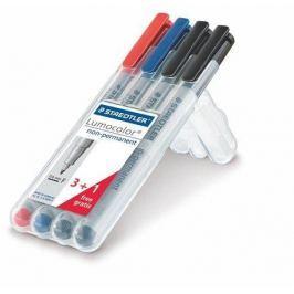 STAEDTLER Ne-permanentní popisovač Lumocolor 316 F, sada, 4 barvy, OHP, 0,6 mm, STAEDTLE