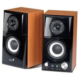 GENIUS SP-HF 500A - reproduktory, 2.0, 2x 7W, černé/dřevo