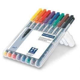 STAEDTLER Permanentní popisovače Lumocolor 318 F, 8 barev, 0,6mm, OHP,