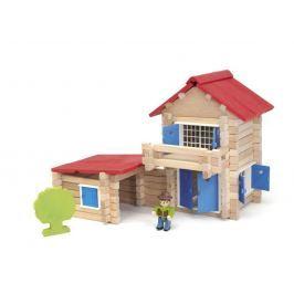 Dřevěná stavebnice Jeujura - 140 dílků - Domeček