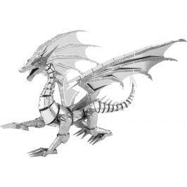 METAL EARTH 3D kovové puzzle  ICONX: Stříbrný drak