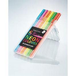 STAEDTLER Fixy Triplus color 323, 6 neon barev, sada, 0,3 mm,
