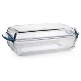 VETRO-PLUS BORCAM Pekáč skleněný hranatý s víkem 4,12 l