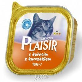 Plaisir Cat vanička 100g kuřecí -13676, 4ks