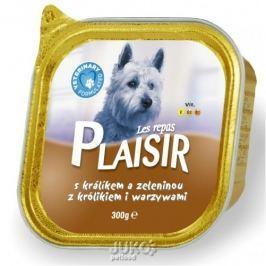 Plaisir Dog vanička 300g králičí -13683, 4ks