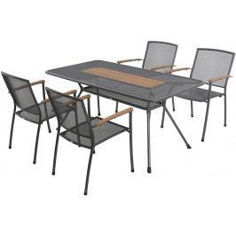 MWH Garland Masao 4+ sestava nábytku z tahokovu (4x stoh. židle Masao, 1x stůl Tavio 160)