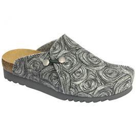 Scholl Dámské pantofle Maryssa Bioprint Grey/Black F266501080, 37