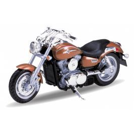 Welly - Motocykl Kawasaki Vulcan 1500 Mean Streak model 1:18 hnědý