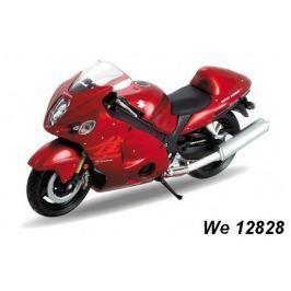 Welly - Motocykl Suzuki Hayabusa model 1:18 červený