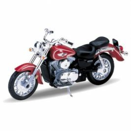 Welly - Motocykl Kawasaki Vulcan Classic 1500 model 1:18 červený