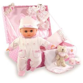 Petitcollin panenka v kufříku Baby Love 28 cm