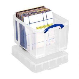 REALLY USEFUL Box, plastový, s víkem, 35 l, průhledný,