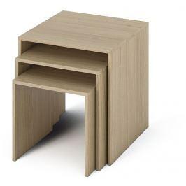 Tempo Kondela Sada tří příručních stolků, DTD laminovaná / ABS hrany, dub sonoma, SIPANI NEW