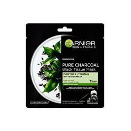 Garnier Černá textilní maska s extraktem zčerného čaje Pure Charcoal Skin Naturals (Black Tissue Ma