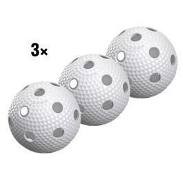 Salming 3x Florbalový míček  Aero Plus, zelená