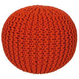 Pletený puf Cool pouf 777 orange, Pletený puf Cool pouf 777 orange