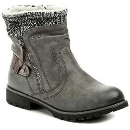 Jana 8-26420-29 šedé dámské zimní boty šíře H, 38