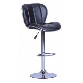 Tempo Kondela Barová židle, ekokůže černá / chrom Duena