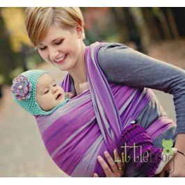 LITTLE FROG Tkaný šátek na nošení dětí - AMETYST, XL