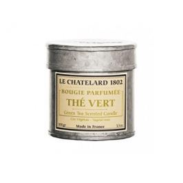 Le Chatelard Vonná svíčka v plechu s retro potiskem Zelený čaj 100 g