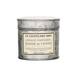 Le Chatelard Vonná svíčka v zinkové krabičce s víčkem Bavlníkový květ 200 g