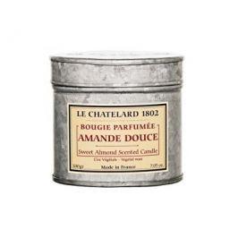 Le Chatelard Vonná svíčka v zinkové krabičce s víčkem Sladká mandle 200 g