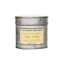 Le Chatelard Svíčka v zinkové krabičce s víčkem Zelený čaj 200 g