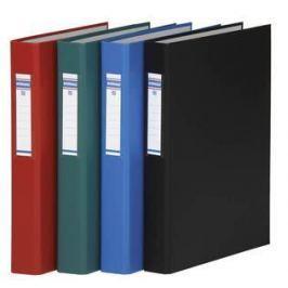 DONAU Pořadač čtyřkroužkový, černý, 40 mm, A4, PP/tvrdý karton,