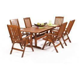 Garland - nábytek Garland Sven 6+ sestava nábytku z borovice (6x pol. křeslo Oliver, 1x rozkládací stůl Skeppsvik)