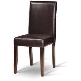 Tempo Kondela Jídelní židle, tmavý ořech / ekokůže tmavě hnědá, VIVA NEW