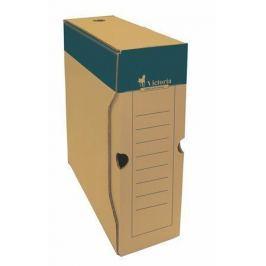 VICTORIA Archivační krabice, přírodní, karton, A4, 100 mm,