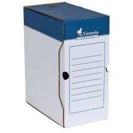 VICTORIA Archivační krabice, přírodní, karton, A4, 150 mm,