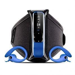 Energy sistem ENERGY Active 2 Neon Blue 4GB, MP3 sportovní přehrávač, FM, USB, sluchátka, spor